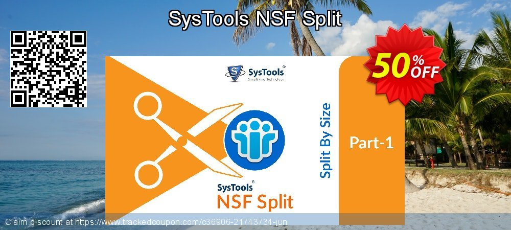 SysTools NSF Split coupon on July 4th super sale