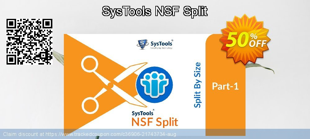 Get 20% OFF SysTools NSF Split offering sales