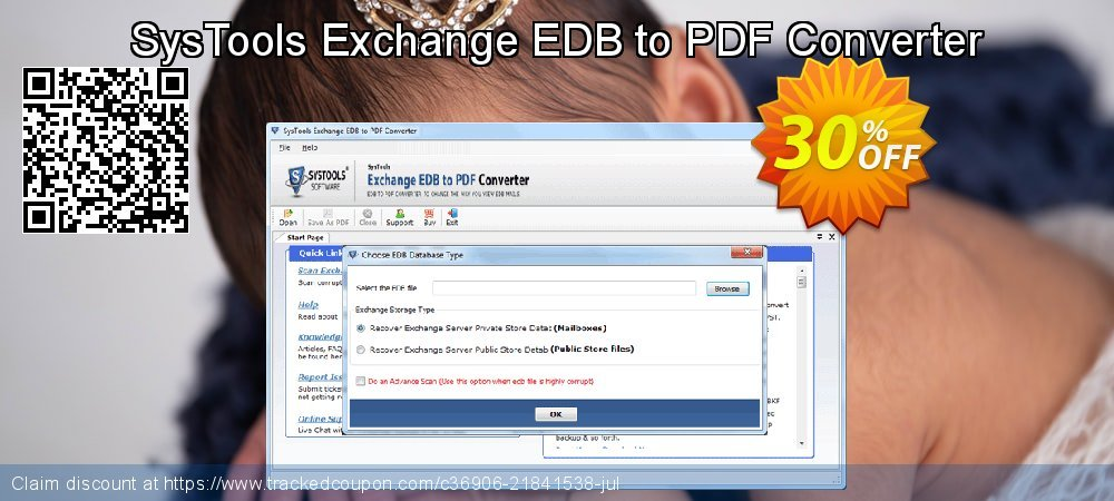 SysTools Exchange EDB to PDF Converter coupon on April Fool's Day discount