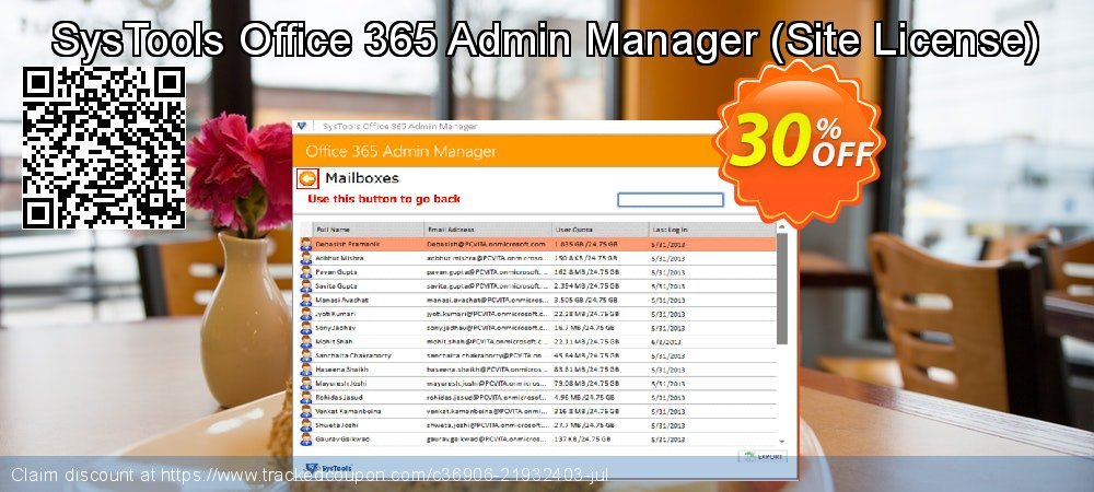 SysTools Office365 Admin Manager - Site License  coupon on Xmas offering discount