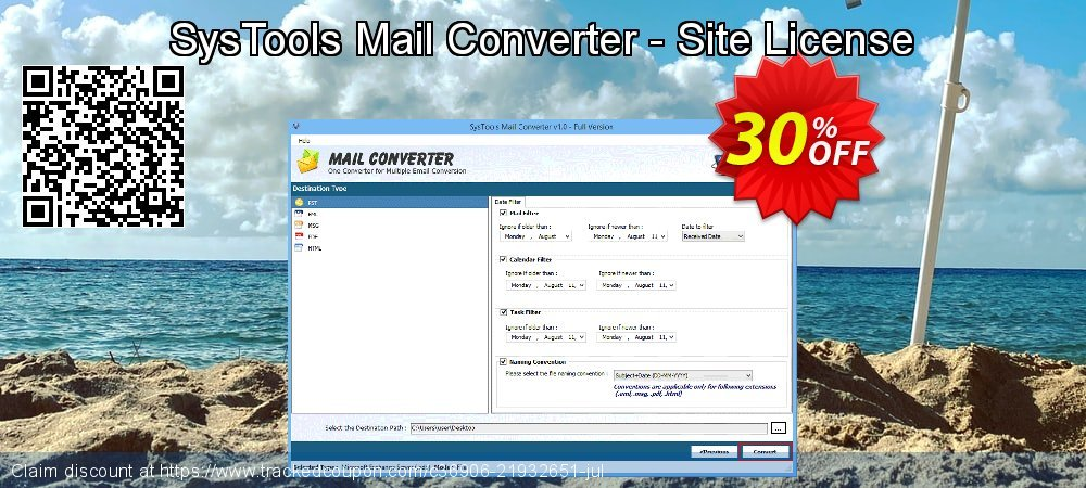 SysTools Mail Converter - Site License coupon on April Fool's Day sales