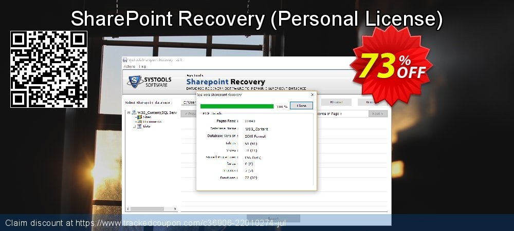 SharePoint Recovery - Personal License  coupon on Tattoo Day offer