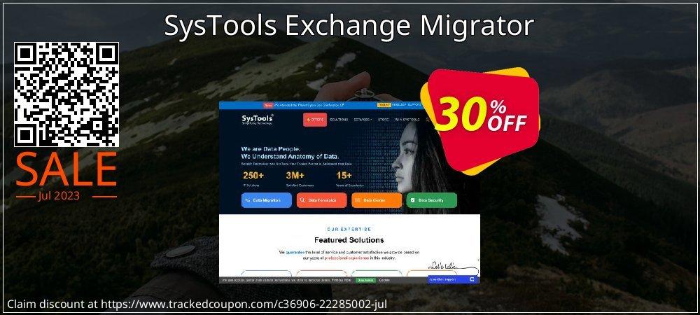Get 30% OFF SysTools Exchange Migrator offering sales