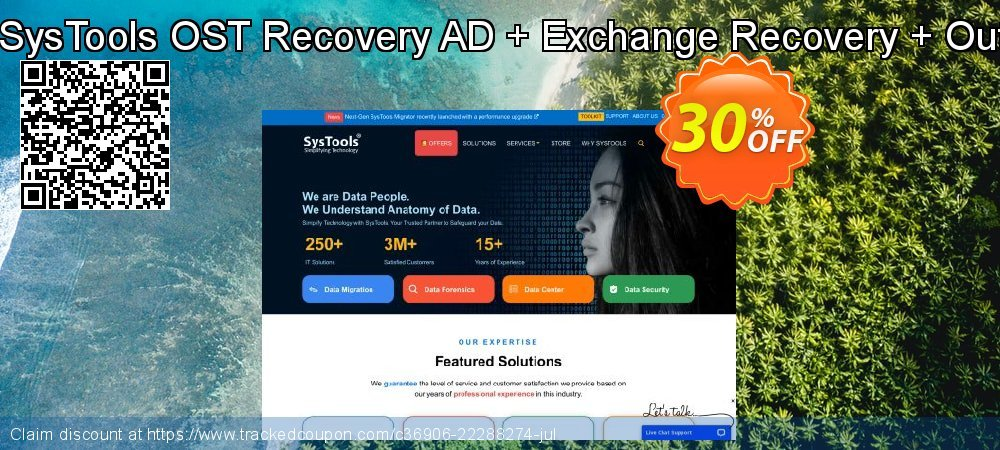 Bundle Offer - SysTools OST Recovery AD + Exchange Recovery + Outlook Recovery coupon on Back to School season offer
