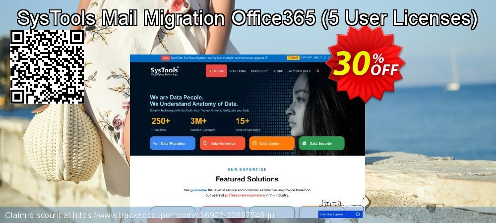 SysTools Mail Migration Office365 - 5 User Licenses  coupon on Easter Sunday discount