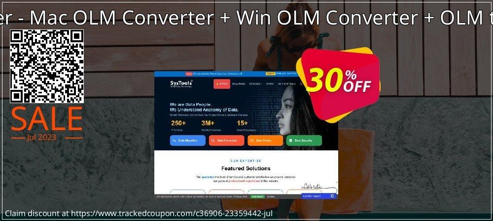 Special Bundle Offer - Mac OLM Converter + Win OLM Converter + OLM to MBOX Converter coupon on Back to School offer promotions