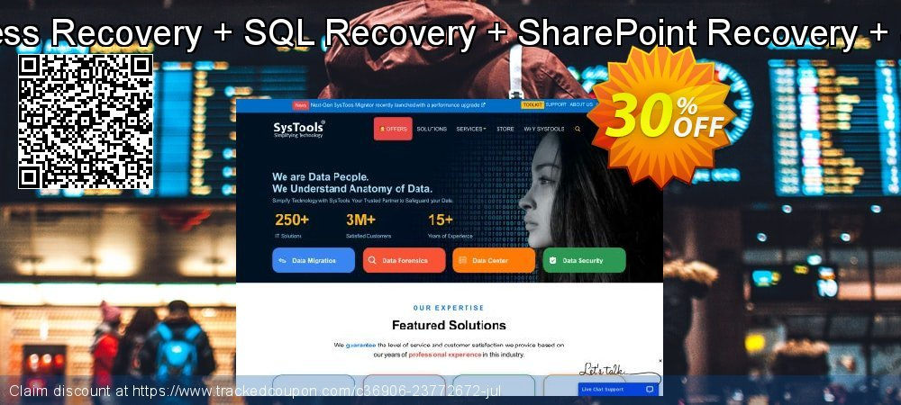 Special Bundle Offer - Access Recovery + SQL Recovery + SharePoint Recovery +SQLite Database Recovery coupon on Back to School promotion discount