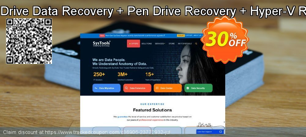 Special Bundle Offer - Hard Drive Data Recovery + Pen Drive Recovery + Hyper-V Recovery + VMware Recovery coupon on Back to School shopping offer