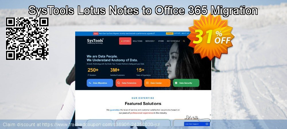 SysTools Lotus Notes to Office 365 Migration - 6+ User Licenses  coupon on Christmas Day offering discount
