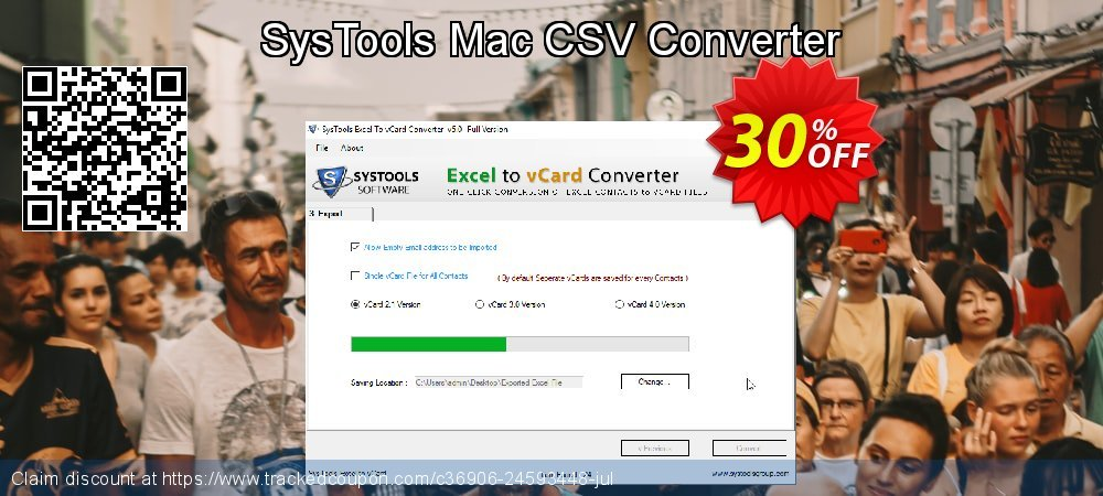SysTools Mac CSV Converter coupon on April Fool's Day offering discount