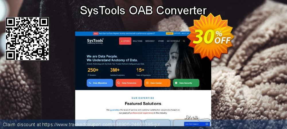 SysTools OAB Converter coupon on Emoji Day super sale