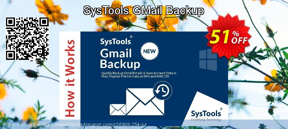 Get 20% OFF SysTools GMail Backup offering sales