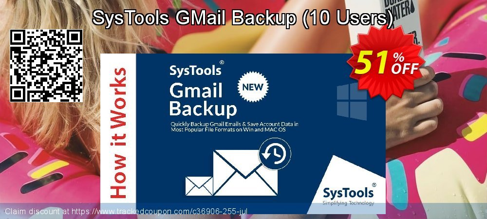 SysTools GMail Backup - 10 Users  coupon on Spring sales
