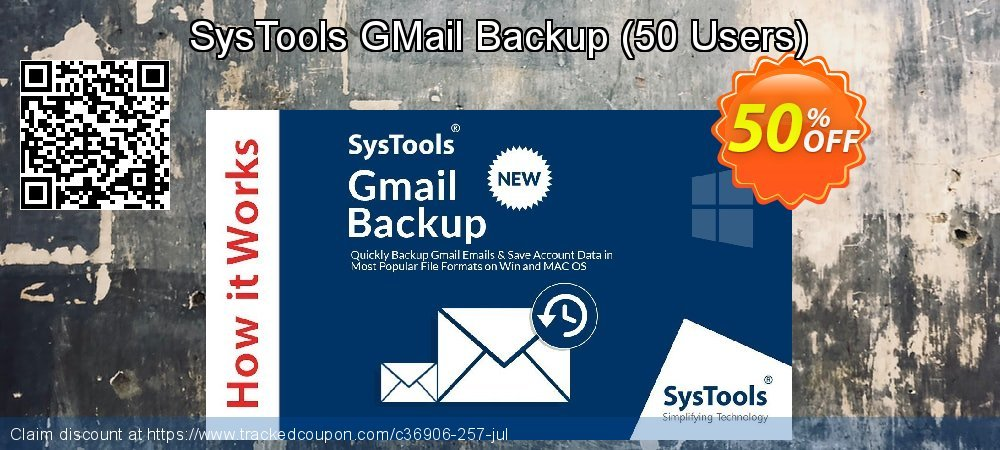 SysTools GMail Backup - 50 Users  coupon on April Fool's Day super sale