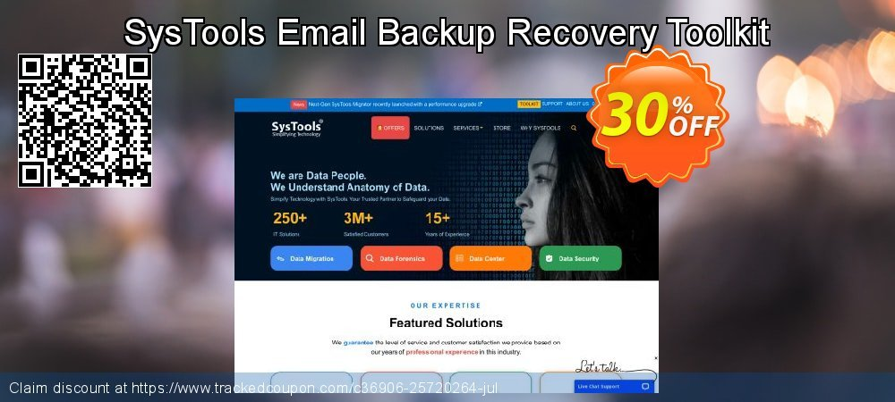 SysTools Email Backup Recovery Toolkit coupon on Back to School deals offering discount