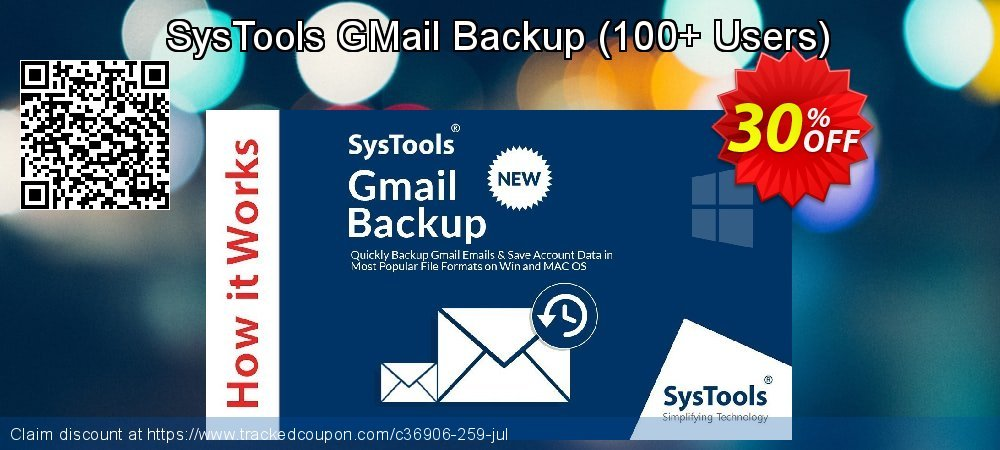SysTools GMail Backup - 100+ Users  coupon on Xmas Day offering sales
