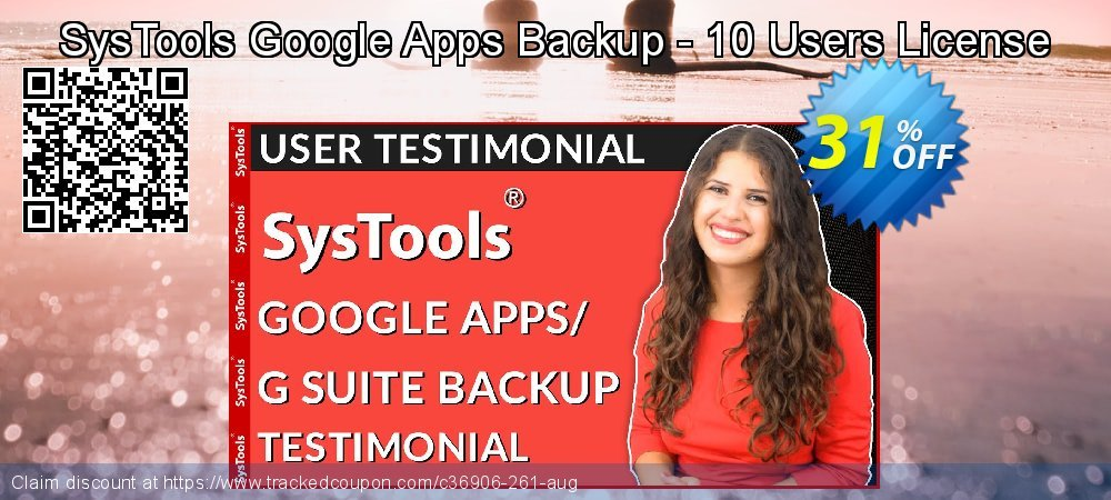 SysTools Google Apps Backup - 10 Users License coupon on World Population Day offer