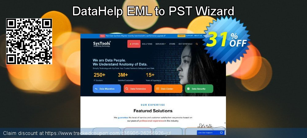 DataHelp EML to PST Wizard coupon on IT Professionals Day super sale