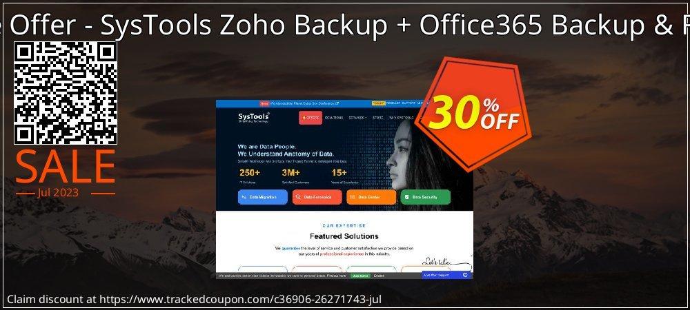 Bundle Offer - SysTools Zoho Backup + Office365 Backup & Restore coupon on National Bikini Day discounts