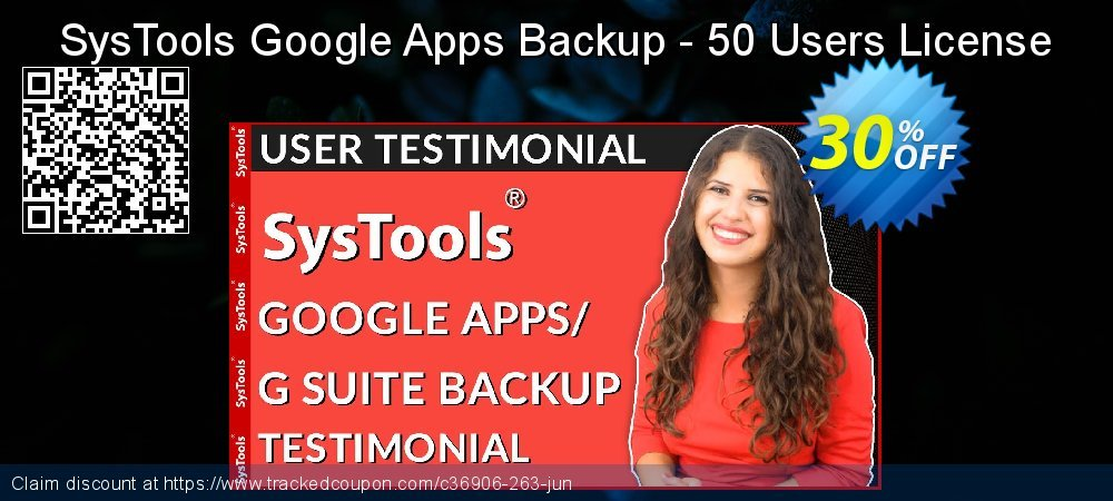 SysTools Google Apps Backup - 50 Users License coupon on Tattoo Day offering discount