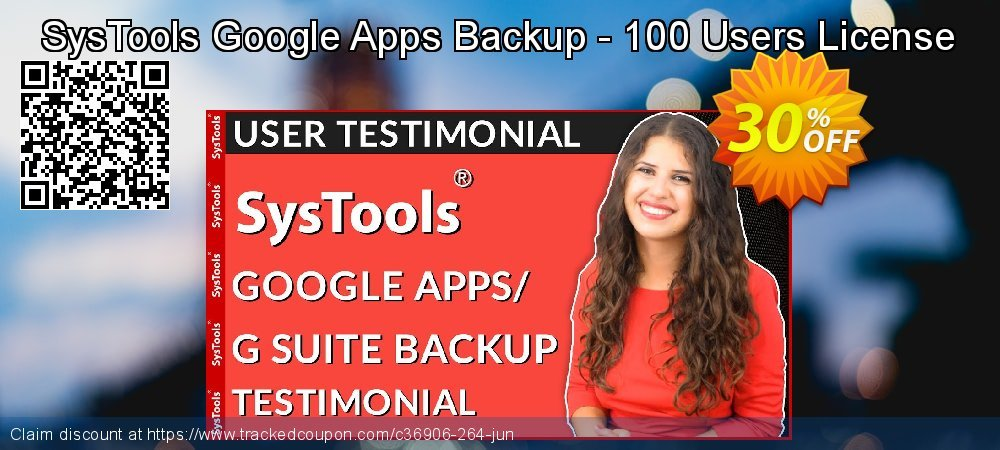 SysTools Google Apps Backup - 100 Users License coupon on Thanksgiving sales