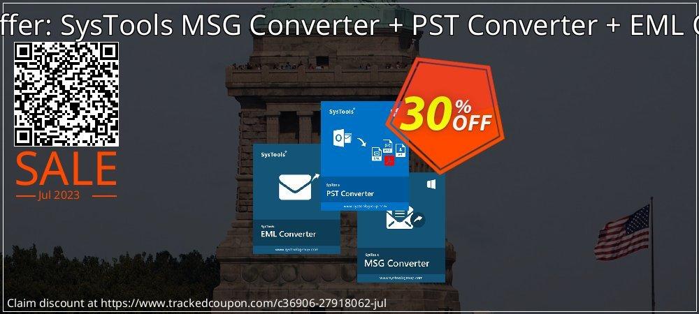 Bundle Offer: SysTools MSG Converter + PST Converter + EML Converter coupon on Summer deals