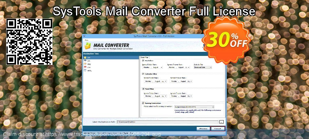 SysTools Mail Converter Full License coupon on Thanksgiving discount