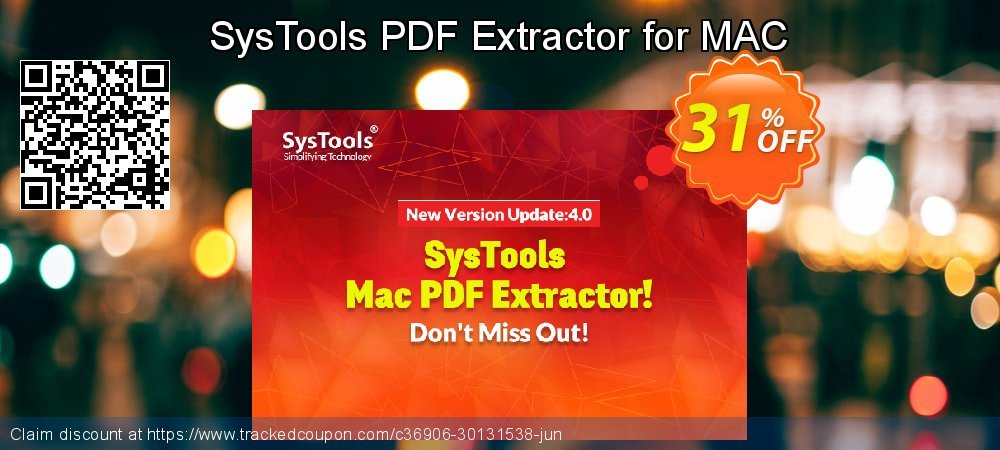 Get 30% OFF SysTools PDF Extractor for MAC discounts