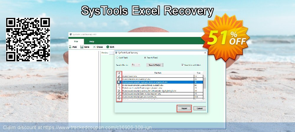 SysTools Excel Recovery coupon on University Student deals super sale