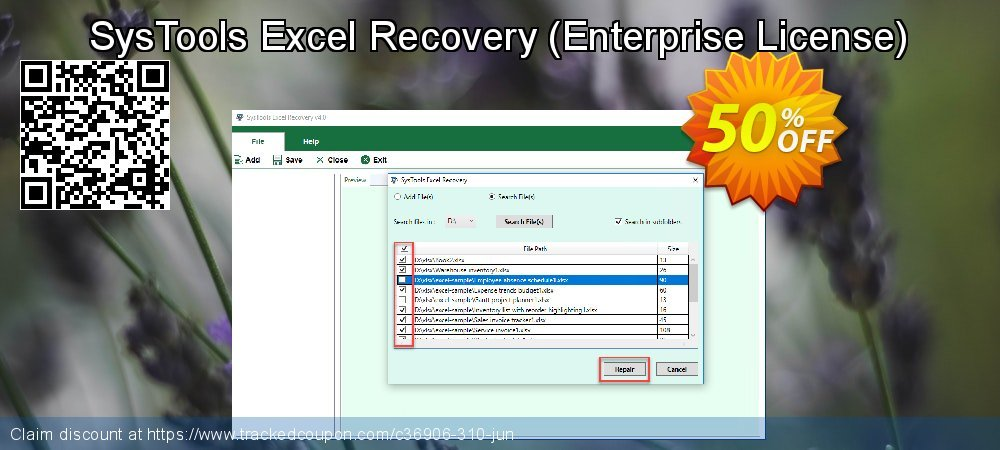 SysTools Excel Recovery - Enterprise License  coupon on World UFO Day super sale