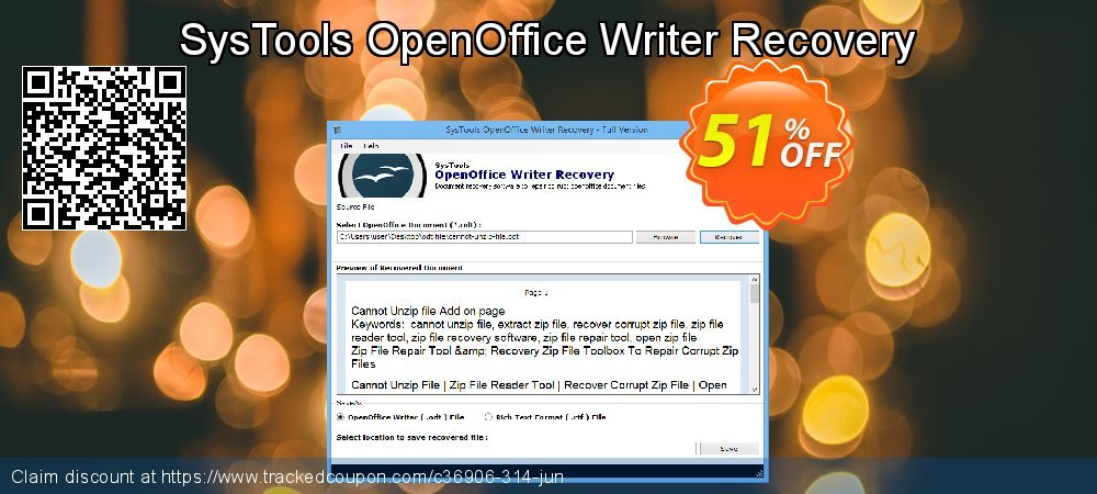 SysTools OpenOffice Writer Recovery coupon on Nude Day deals