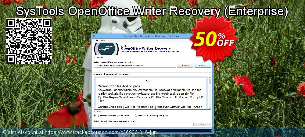 SysTools OpenOffice Writer Recovery - Enterprise  coupon on April Fool's Day offering sales
