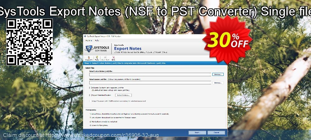 SysTools Export Notes - NSF to PST Converter coupon on April Fool's Day super sale