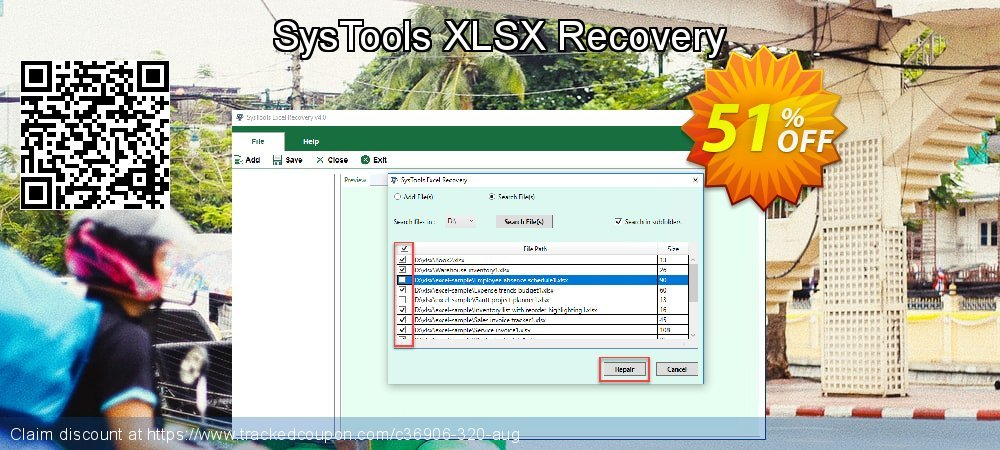 SysTools XLSX Recovery coupon on April Fool's Day sales