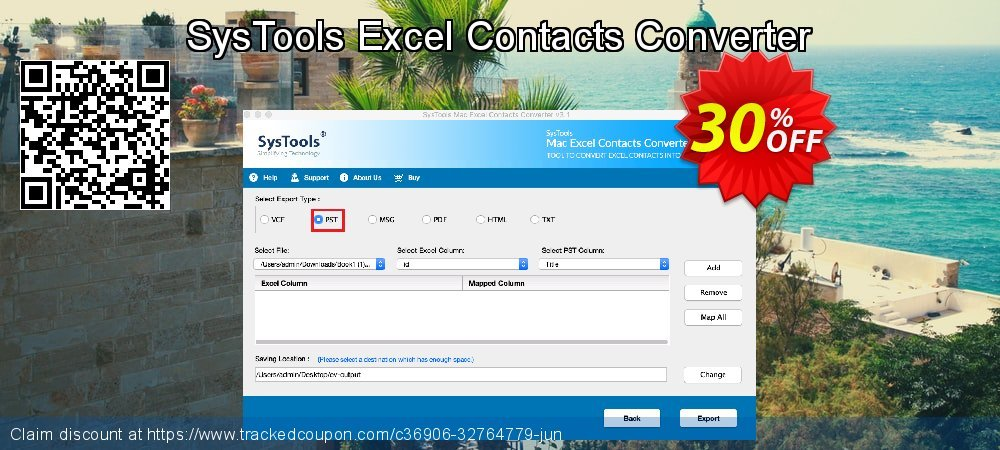 SysTools Excel Contacts Converter coupon on National Cleanup Day offering discount