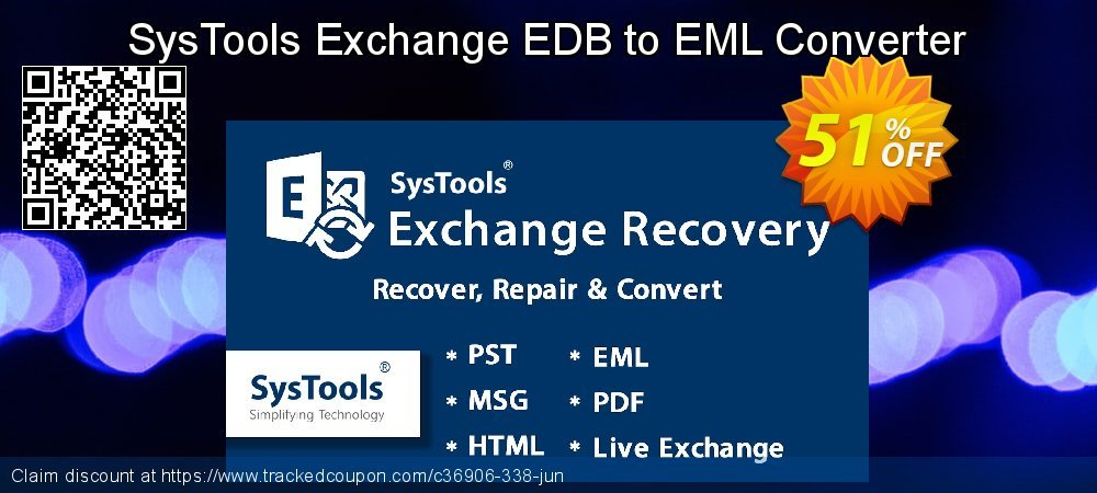 Get 20% OFF Exchange EDB to EML Converter - Personal License offer