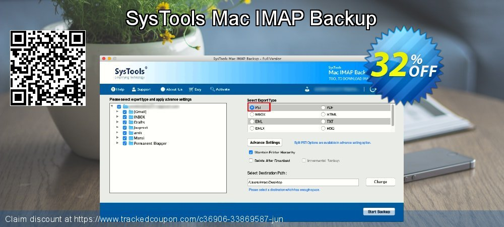 Claim 32% OFF SysTools Mac IMAP Backup Coupon discount July, 2021
