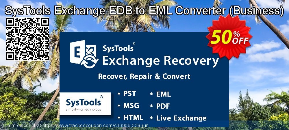 SysTools Exchange EDB to EML Converter - Business  coupon on Christmas offering discount