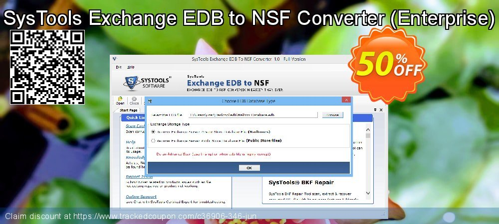 SysTools Exchange EDB to NSF Converter - Enterprise  coupon on April Fool's Day promotions