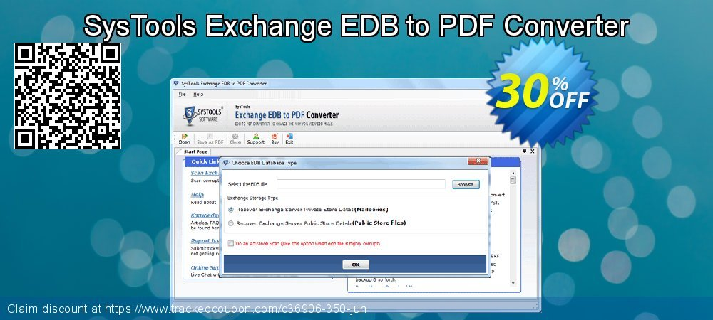 SysTools Exchange EDB to PDF Converter coupon on July 4th deals