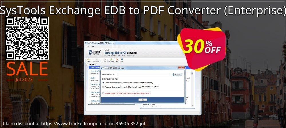 SysTools Exchange EDB to PDF Converter - Enterprise  coupon on April Fool's Day discount