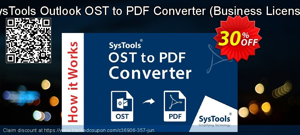 Outlook OST to PDF Converter - Business License coupon on Summer promotions