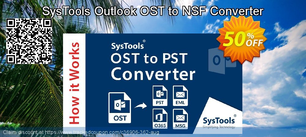 SysTools Outlook OST to NSF Converter coupon on World UFO Day offering discount