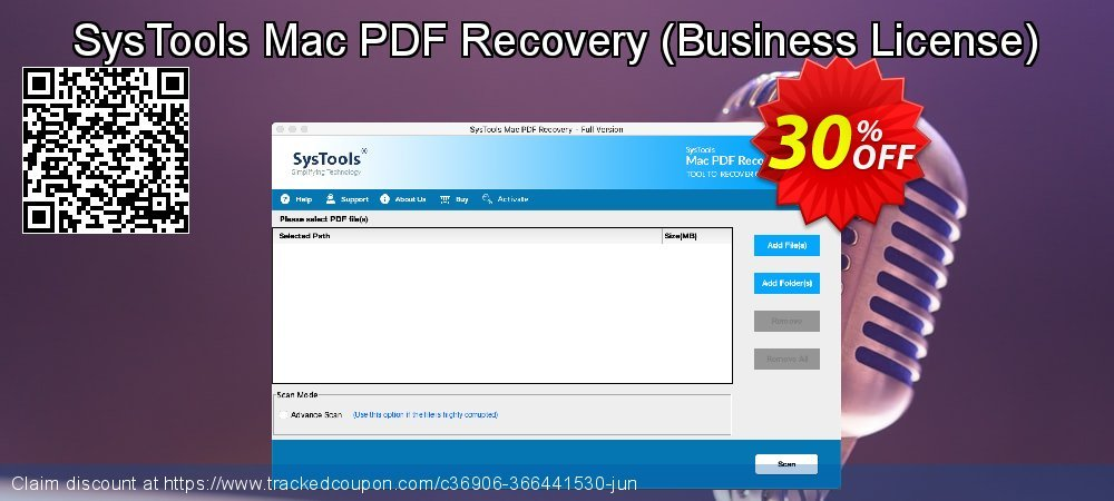 Claim 30% OFF SysTools Mac PDF Recovery - Business License Coupon discount October, 2021