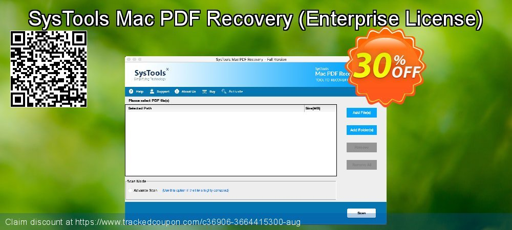 Claim 30% OFF SysTools Mac PDF Recovery - Enterprise License Coupon discount October, 2021
