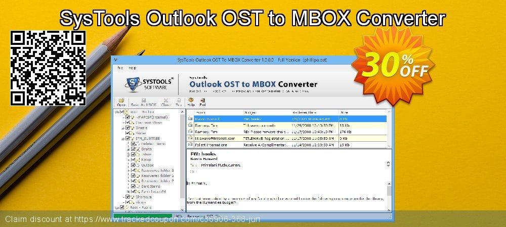 SysTools Outlook OST to MBOX Converter coupon on Christmas Day super sale