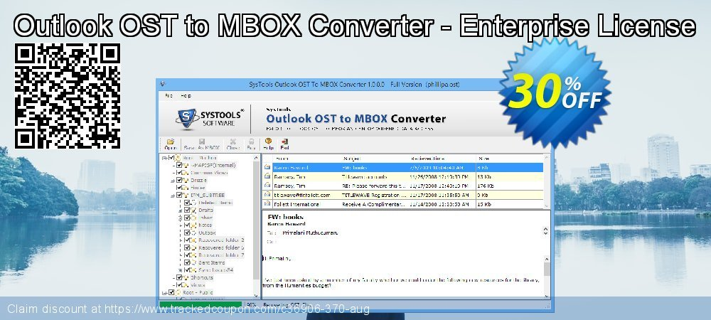 Get 93% OFF Outlook OST to MBOX Converter - Enterprise License discounts