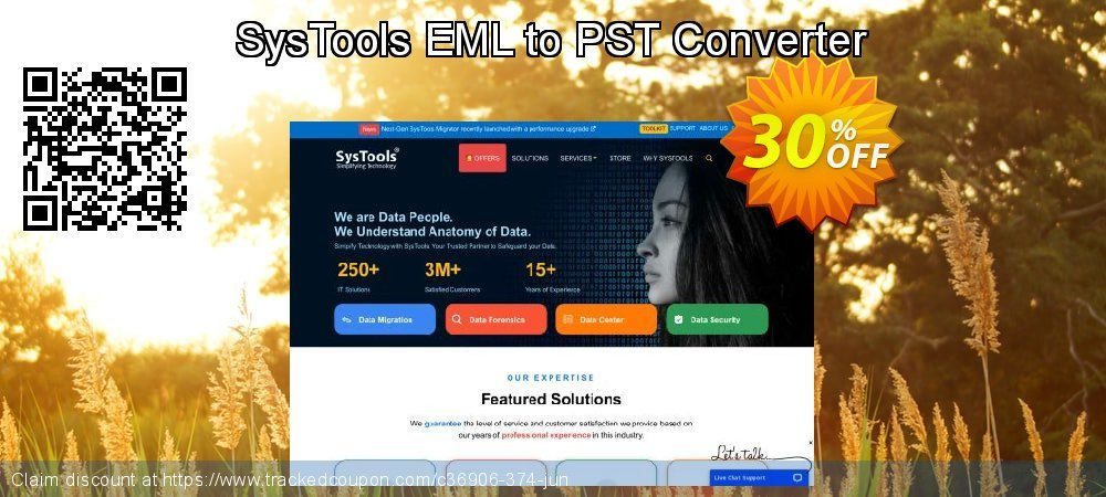 SysTools EML to PST Converter coupon on July 4th discounts