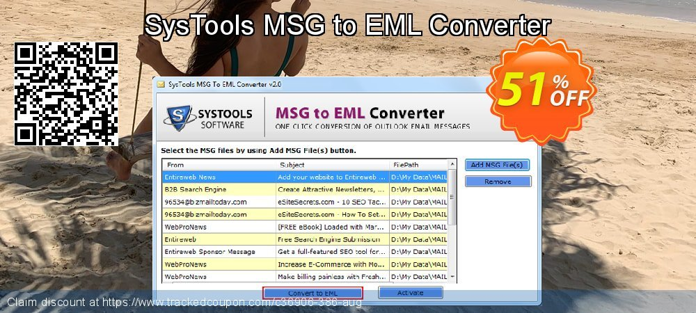 [20% OFF] MSG to EML Converter - Personal License Coupon on Back to School  offer offer, August 2019