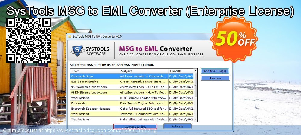 Claim 30% OFF SysTools MSG to EML Converter - Enterprise License Coupon discount May, 2021